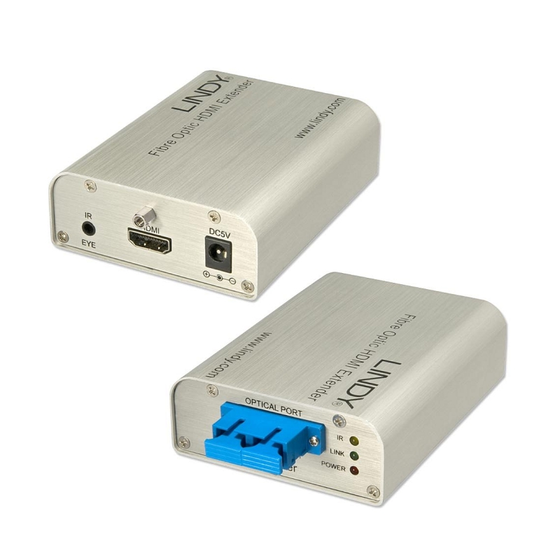 Optical Fiber Monitor : Lindy fiber optic hdmi extender monitors monitor
